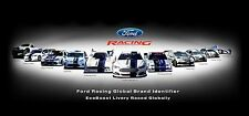 Ford Racing Car Collection 30x14 Inch Canvas - Framed Picture Print Art