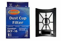 (1) Eureka Style Dcf 16, Hepa W/activated Charcoal Filter Dust Cup Vacuum Cle...