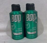 2 Bod Man Cool & Refreshing Body Spray 4 Oz