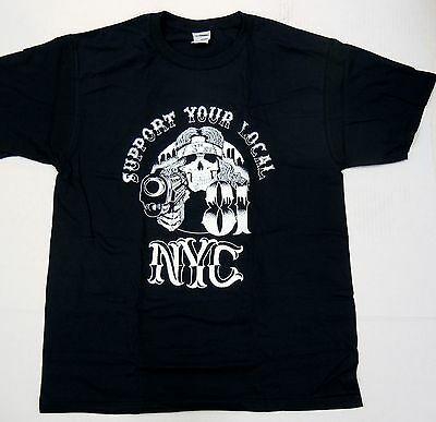 Support Your Local 81 NYC Hells Angels 3rd st crew New York T Shirt  XL NEW #sku