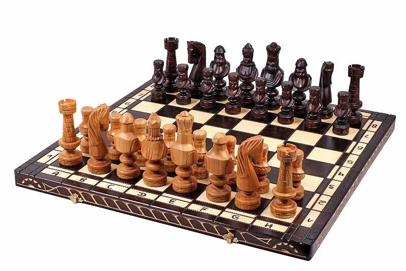 Luxury Luxury Luxury Hand Made Cesar wooden chess set outstanding pieces 60cm x60cm 73bcd0