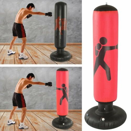 NEW Heavy Duty Free Standing Boxing Punch Bag Kick Art Training Indoor Sports UK