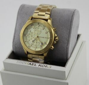 a58a3d78121fc NEW AUTHENTIC MICHAEL KORS WALSH GOLD CHRONOGRAPH MEN S MK8570 WATCH ...