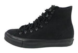 CONVERSE-Men-Hiker-Shoes-Hi-Top-All-Star-Nubuck-Leather-Black-Chucks-Sneakers