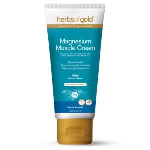 Herbs of Gold Magnesium Muscle Cream 100g Sensitive Skin Friendly 100% Vegan
