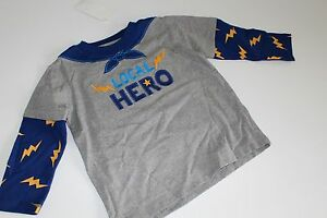 Gymboree-Boys-Size-18-24-M-Super-Dude-NEW-NWT-2PC-Shirt-Top-Hero-Cape-Local