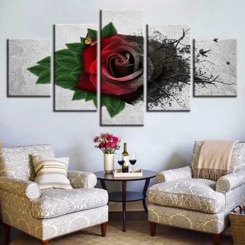 Rose from the Earth 5 pcs HD Modern Art Poster Wall Home Decor Canvas Print