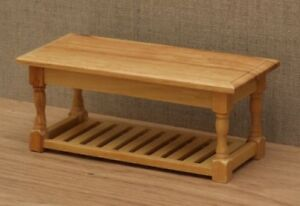 1:12 Dolls House Kitchen Table with rack