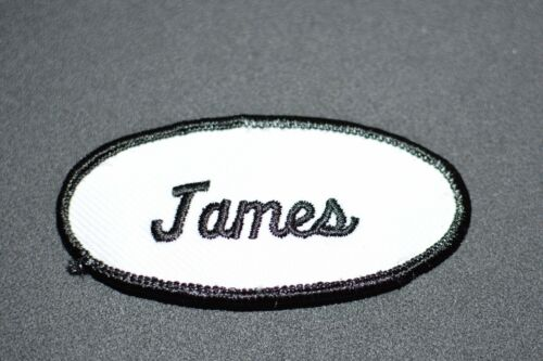 Texte noir Brodé Nom Tag patch pour mécanicien Hotel RN Chemise de travail uniforme