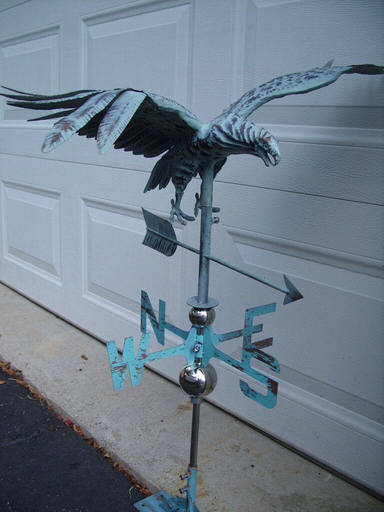 3D Eagle Weathervane Antique Copper Finish Flying Weather Vane HandCrafted