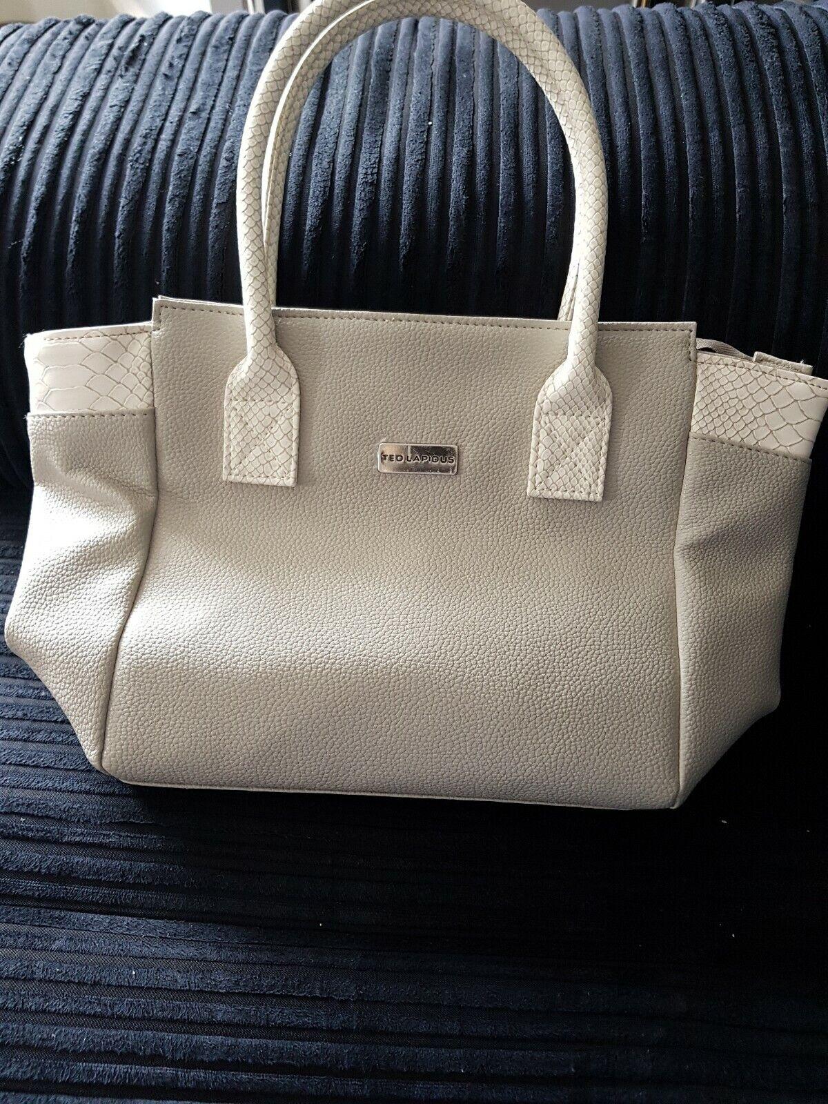 Ted Lapidus Pale Grey Shoulder / Cross Body Bag NWOT
