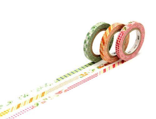 Planner Supplies Craft Journal MT Masking Tape Slim 6mm Floral Stripe Washi