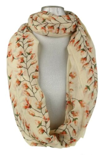 Womens Magnolia Flowers Scarf Flower Vintage Pattern Retro Ladies Neck Shawl