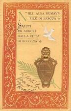 9770) SALUTI E AUGURI DALLA CITTA' DI BOLOGNA ALBA PRIMAVERILE DI PASQUA VG 1902