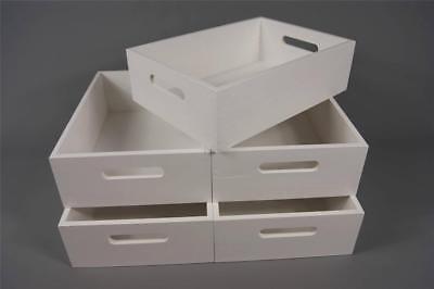 En Bois Boîte de rangement caisse Caddy Cuisine Jouet Chambre à coucher Organisateur vintage SWZ40