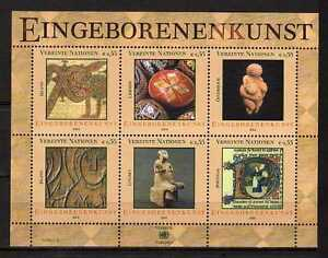 10160) UNITED NATIONS (Vienna) 2004 Indigenous Art S/S MNH**