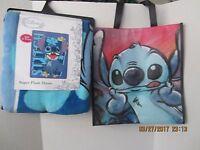 Lilo Stitch Plush Soft Fleece Blanket Bedding 46 X 60 & Tote Disney Tags