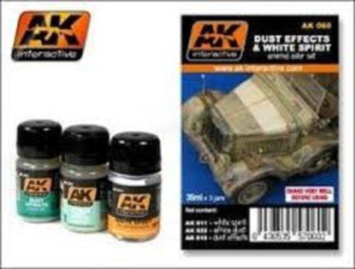 AK00060 AK Interactive Dust Effects and White Spirit Set model making detail
