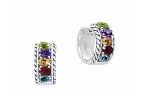 argent sterling /& Multistone Boucles d/'oreilles par Effy//FABRICANTS Standard prix de détail $250 NOUVEAU