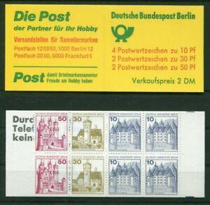 2-x-Berlin-MH-10-a-II-postfrisch-536-534-532-C-D-Werte-B-S-Markenheftchen