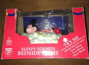 Vintage-Mickeys-Disney-Sleepy-Sounds-Bedside-Light-Sensor-Lights-Up-Counts-Sheep
