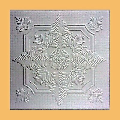 40 pc Antique Ceiling Tile - 20x20 NOVARA White Tin-Look Easy Instalation