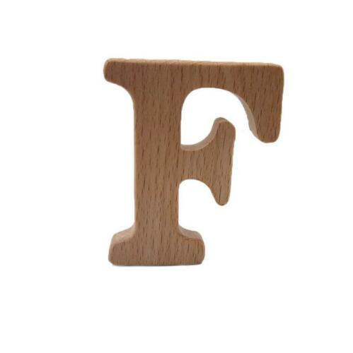 DIY 1X Natural Beech Wood Letter Baby Teether DIY Teether Chew Toys Molar stick