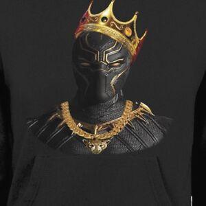 """BLACK PANTHER /""""KING/"""" NOTORIOUS BIG MASH UP HOODIE"""