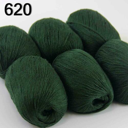 Sale Luxurious Soft 6x50g Mongolian 100/%Cashmere Hand Knit Wool Crochet Yarn 20