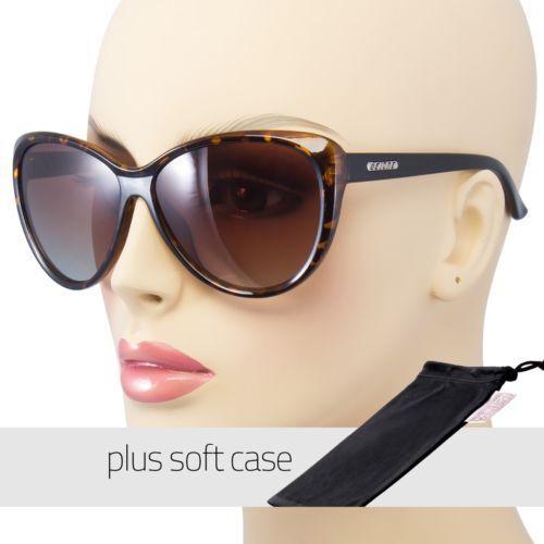 Tortoise Cat Eye POLARIZED Sunglasses Retro Classic Vintage Design POUCH FREE R