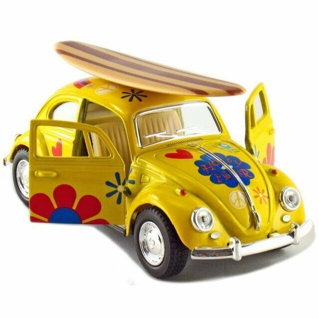 Kinsmart 1967 Volkswagen Beetle Decal w//Surfboard Diecast Model 1:32 VW BLUE