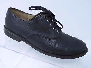 FRYE-SHOES-PAIGE-OXFORD-LACE-UP-FLATS-Black-LEATHER-74425-Size-6-B
