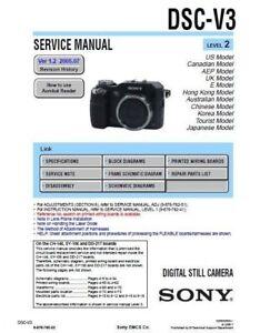 sony cyber shot dsc v3 service repair manual ebay rh ebay com sony dsc-w310 repair manual sony dsc-h2 repair manual