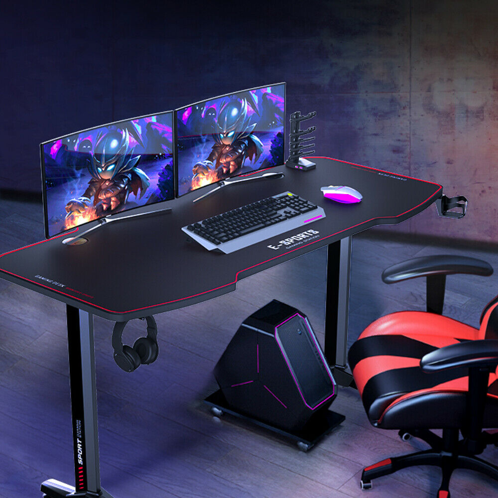 32 inch Computer Desk Gaming Table Racing Style Home Office Ergonomic Black