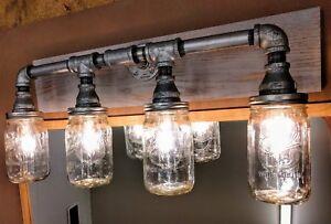 Three Light Steampunk Faucet Theme Vanity light Industrial Style Bathroom