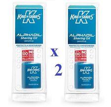 2 x King of Shaves AlphaOil Shave Oil Sensitive Skin 15ml Each