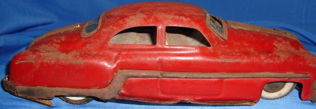 Old Vintage Tin Friction Powered Car Toy from India 1950
