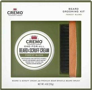 Cremo-Beard-Grooming-Kit-Forest-Blend-Beard-amp-Scruff-Cream-and-Beard-Brush