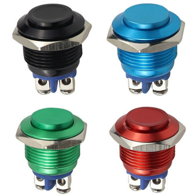 1Pc Momentary Push Button Switch 16mm Waterproof Mount Button Sw RUS