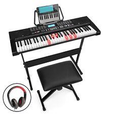BCP 61-Key Beginners Electronic Keyboard Piano Set w/ Lighted Keys, Headphones