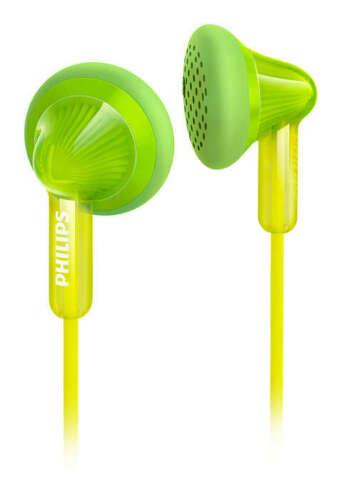 PHILIPS In Ear Kopfhörer Headphones Winkelstecker Klinke 3,5mm grün Handy MP3
