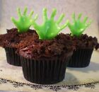 Halloween 12 Monster Hands Cupcake Picks