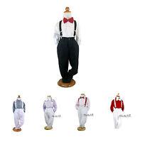 Baby Boys Formal Wedding Suit 4pcs Set Pants-shirt-braces-bowtie Sz000-16yr
