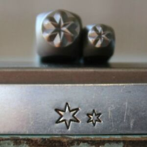 SUPPLY GUY 5mm and 3mm Six Point Star Metal Punch 2 Stamp Set SGCH-294295