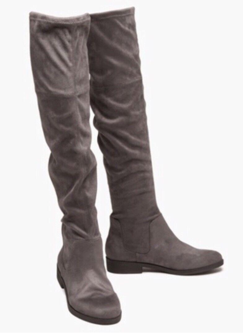 Sociología para con mujer sobre la rodilla con para botas Bronceado O gris Talle 10 o 7.5 Nuevo a6e7b7