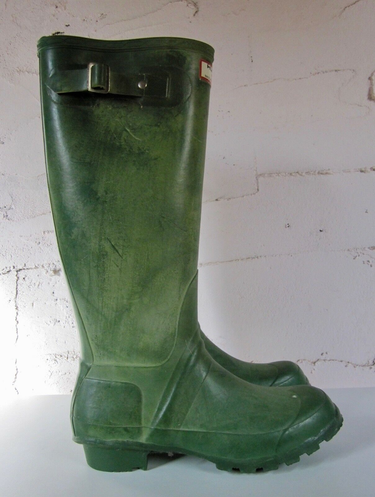 Vintage HUNTER Original Tall WELLIES Green Rubber Women's Boot, size 7