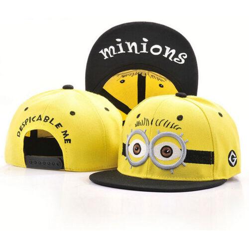 Children Mens Cartoon Minions Hat Boy Baseball Cap Snapbacks Embroidery Big Eyes