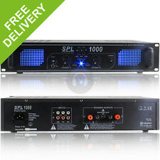 SPL 1000W Power Amplifier EQ Aux - Home Audio Hi-Fi Stereo DJ Disco Party PA Amp