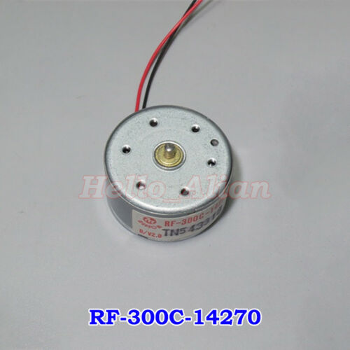 Mabuchi RF-300C low Voltage DC1.5V~5V 5500RPM Mini Mute Round DC Motor DIY Toy