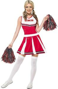 Ladies-Red-American-Cheerleader-TV-Film-Hen-Do-Party-Fancy-Dress-Costume-Outfit